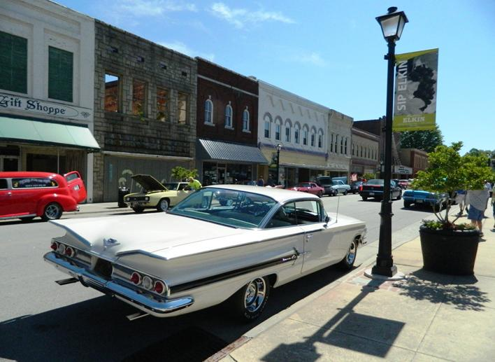 Cruise Downtown in Elkin, Surry County Yadkin Valley NC
