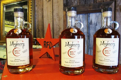 Mayberry Spirits bottles, Surry County Yadkin Valley NC