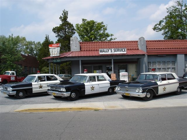 Mayberry Squad Cars, Surry County Yadkin Valley NC