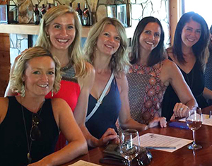 Group on a wine tour in Surry County wine country